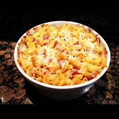 Bacon Macaroni and Cheese « Gourmet and Comfort Food Blog by Two Hot Potatoes