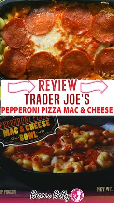 Trader Joe's Pepperoni Pizza Mac and Cheese bowl has elements of both pizza and mac and cheese. Tucked away in the freezer aisle, hidden with the other Mac and Cheese options was this new product Trader Joe's Pepperoni Pizza Mac & Cheese Bow. For $2.99 you are getting a 12 ounce portion of pasta that has cheese and 8 slices of pepperoni on top. The pasta here is elbow macaroni. There are two options to prepare this: either in the microwave or in the oven. | @becomebetty #honesttraderjoesreviews Summer Snack Recipes, Easy Pasta Dinner Recipes, Vegetarian Pasta Recipes, Best Dinner Recipes, Easy Freezer Meals, Easy Family Dinners, Red Sauce Pasta Recipe, Sloppy Joes Recipe
