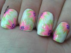 Cute Flower nail design art