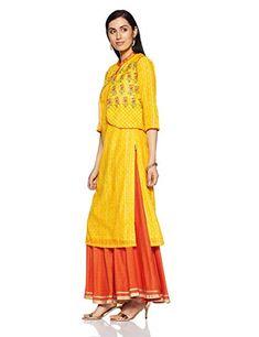 798b39fba BIBA Women s Straight Kurta  Amazon.in  Clothing   Accessories