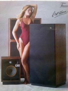 HiFi Pin up Girls! Vintage Advertisements, Vintage Ads, Vintage Photos, Hifi Video, Old School Radio, Big Speakers, Audiophile Speakers, Loudspeaker, Tv Videos