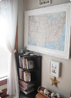 Framed Map of places you have been together! I absolutely love it!! Going to use the world though, we have big plans!