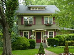 barn red and sage green - Google Search