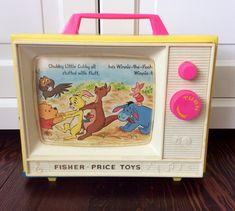 1971 Fisher Price Winnie The Pooh Music Box TV #175, Disney's Winnie The Pooh, Vintage Fisher Price Toys, Animated Music Box, Nursery Decor by Lalecreations on Etsy
