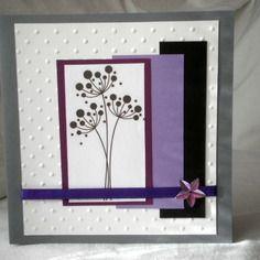"""Carte pour condoléances  """"fleurs stylisées"""""""