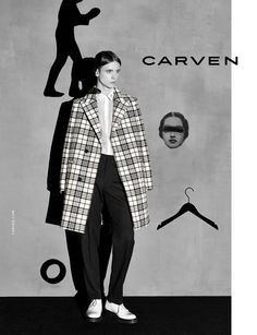 Gustaaf Wassink in Carven's AW14 campaign