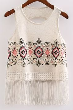 ☆ http://www.zaful.com/back-cut-out-round-collar-embroidery-print-tank-top-p_180178.html ☆ https://es.pinterest.com/iolandapujol/pins/ ☆ @iola_pujol/