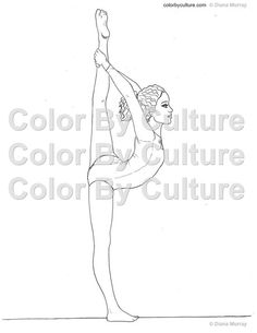 Kids Gymnastics Coloring Pages For Kids And Gymnastics On