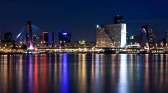 Photo about Willems bridge of Rotterdam and Mass River. Image of panorama, apartment, rotterdam - 10663833 Rotterdam Architecture, Rotterdam Skyline, Amsterdam, Augmented Reality, Virtual Reality, All Over The World, Marina Bay Sands, New York Skyline, Stock Photos
