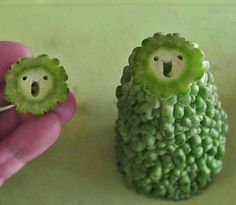 I have no idea what fruit . . . vegetable . . . THING this is, but it's surprised and happy to see me!