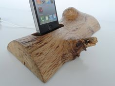 Iphone/Ipod handmade wood docking station, great gift idea, another awesome Etsy find