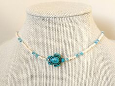 I love how this sea turtle choker turned out!!   https://www.etsy.com/listing/505543367/sea-turtle-necklace-beach-choker-surf