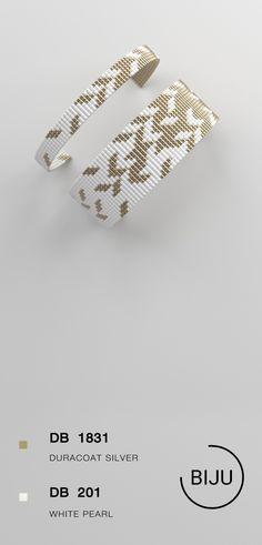 $4.72 Loom bracelet pattern, loom pattern, square stitch pattern, pdf file, pdf pattern, cuff, #08BIJU