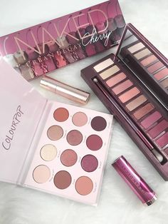 The NEW Urban Decay Cherry is a palette filled with dreamy colors. Yet Colourpop has a palette with the same vibes for less than HALF the cost. Who wins? Makeup Swatches, Makeup Dupes, Diy Makeup, Makeup Cosmetics, Makeup Ideas, Makeup Remover, Eyeshadow Dupes, Makeup Hacks, Beauty Make-up
