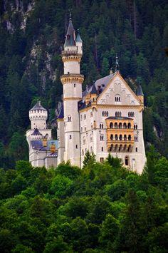 "AKA ""Sleeping Beauty Castle"" Neuschwanstein Castle, Bavaria, Germany"