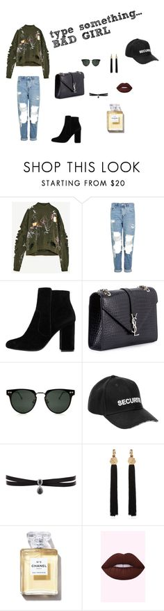 """""""#loose/1"""" by juliefashionz on Polyvore featuring moda, Topshop, MANGO, Yves Saint Laurent, Spitfire, Vetements i Fallon"""