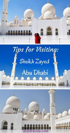 Visiting the Grand Mosque should be on your list when you plan a trip to Abu Dhabi. Travel Highlight: Sheikh Zayed Grand Mosque in Abu Dhabi Dubai Travel, Asia Travel, Dubai Trip, Abu Dhabi, Travel Couple, Family Travel, Travel Guides, Travel Tips, Travel Goals