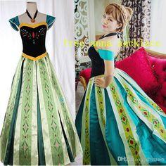 0499108e320 Click to Buy    Free Shipping Snow Movie queen princess anna costume  halloween