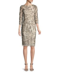 7f631e6acb4 Metallic Lace Cocktail Dress with 3 4 Bell Sleeves JHDM4040B  partydresses