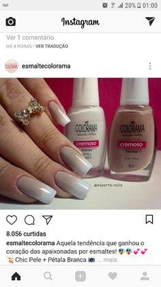 Esmalte Colorama - chic pele + pétala branca