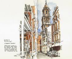 Málaga, sketching with Noël by Luis_Ruiz, via Flickr