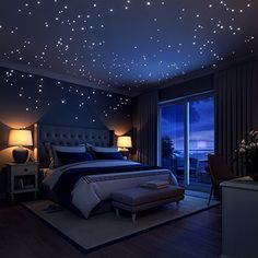 Glow In The Dark Stars Wall Stickers, 252 Dots and Moon for Starry Sky, Perfect For Kids Bedding Room or Birthday Gift ,Beautiful Wall Decals by LIDERSTAR ,Delight The One You Love. by LIDERSTAR, http://www.amazon.com/dp/B01DGSR7NA/ref=cm_sw_r_pi_dp_x_ERYszbE7QMC2F