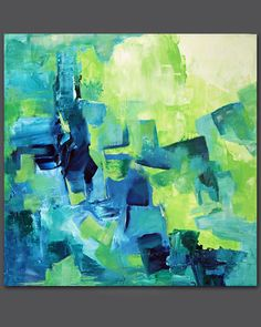 Stream No.2  Original abstract acrylic painting 18 x by Tree3332, $145.00