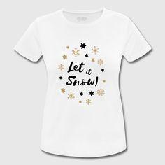 Let it Snow!   Kalligraphie mit Sternen und Schneeflocken ein bezauberndes Winter Weihnachts Design. Let It Snow, Onesies, Winter, Clothes, Design, Snowflakes, Penmanship, Stars, Winter Time