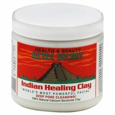 Aztec Secret Indian Healing Clay Deep Pore Cleansing, 1 Pound.  Top Seller at http://www.amazon.com/dp/B0014P8L9W/?tag=bizelellcom0e-20  $5.02