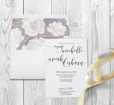 Classic and elegant wedding invitations, with changing envelope liner to match your wedding!