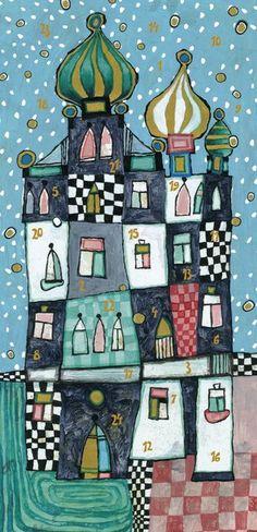 Adventskalender Schneezauber - Mit den außergewöhnlichen Illustrationen von Eugen Stross