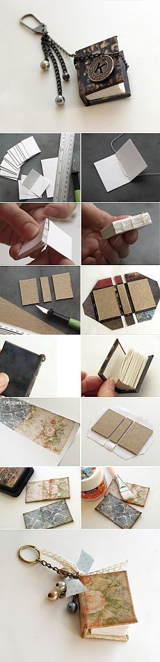 DIY mini books for charms or pendants.