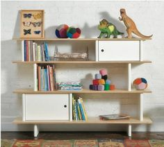 Oeuf - Mini Library - Birch-Consideration for functionality and high-end modern design has been applied to The Oeuf Mini Library, a reaction to the lack of storage available in children's furniture. Designed for easy access, the Mini Library nurtures Library Shelves, Kids Bookcase, Bookshelves, Modern Bookcase, Nursery Bookshelf, Bookcase White, Bookshelf Ideas, Modern Nursery Furniture, Toddler Furniture