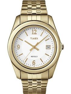 Timex Mens Classics Dress White INDIGLO Dial Gold Tone Stainless Steel Expansion Watch T2N315 Timex. $34.97. INDIGLO Night Light. Save 30%!