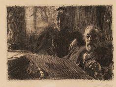 anders Zorn                Anders Zorn etching