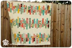 This modern style quilt goes together quickly using easy strip piecing techniques and is a perfect beginner quilting project. Use your favorite jelly roll