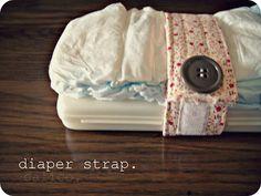 calico: diaper strap tutorial.