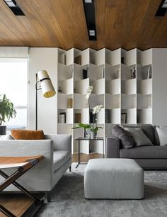 Modern apartment design - Living Room Storage Ideas That Will Make Clutter Dissolve – Modern apartment design Design Living Room, Living Room Storage, Bedroom Storage, Bedroom Sets, Bedroom Decor, Modern Apartment Design, Office Interior Design, Room Interior, Small Home Interior Design