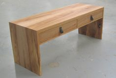 bench with 2 drawers from tulipwood