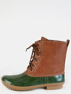 Lace+Up+Rubber+Duck+Boots+OLIVE+
