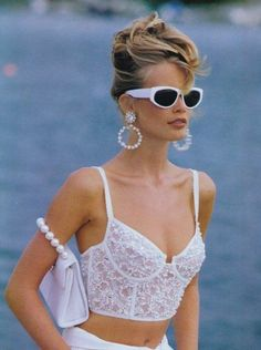Claudia Schiffer works 90s bombshell updo hair | The Bombshell Hair Gallery