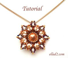 Tutorial Calabash Pendant  Beading Pattern Jewelry by Ellad2, $6.00