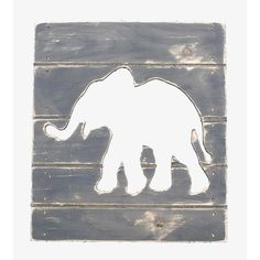 """Perfect wall decor for a gender neutral nursery. Decorate your child's room with this fun, unique plank-shape cut-out for your child's room.<br><br>The Twelve Timbers Elephant Plank Cut Out Wall Art - Gray features:<br><ul><li>Wood Type: CDX (Rough Wood Style)</li><br><li>Color: Dark Grey</li><br><li>Dimensions: 14.25"""" X 1.0"""" X 16.25""""</li><br><li>Made in the USA</li></ul><br><br>Cool kids' decor from Twelve Timbers will liven up nurseries, kids' rooms and playrooms. They offer a wealth of…"""