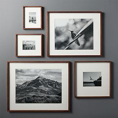Gallery Walnut 11x14 Picture Frame + Reviews | CB2
