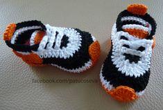 Zapatilla deportiva nike de crochet hechos a mano con PERLE 100% algodónElige talla y colores!!!!Tallas: 0-3 meses (9 cm)3-6 meses (10 cm)6-9 meses (