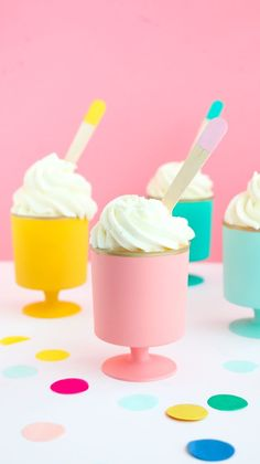 DIY mini colorful Dessert goblets or cups for party