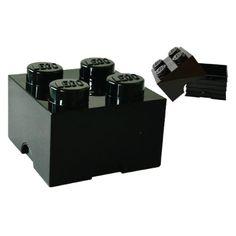 Opbergbox 2 x 2 - Zwart - LEGO® doopsuiker - Brick Gifts