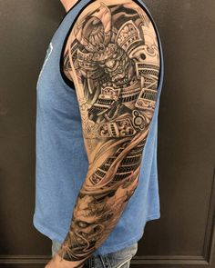Samurai sleeve in progress With artist: @davidhoangtattoo Created at @chronicink _ #workproud #wearproud