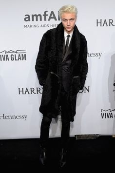 Lucky Blue Smith,named best dressed of the week by one magazine and made friends with Alexa Chung. My boyfriend is killing it