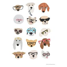 DOGS IN GLASSES 30 x